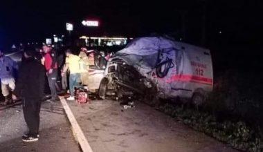 Bandırma'da trafik kazası:4 ölü, 2 yaralı