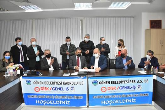 Genel-İş 8 belediyede 14 toplu sözleşme imzaladı