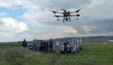 Drone ile sivrisinek mücadelesi